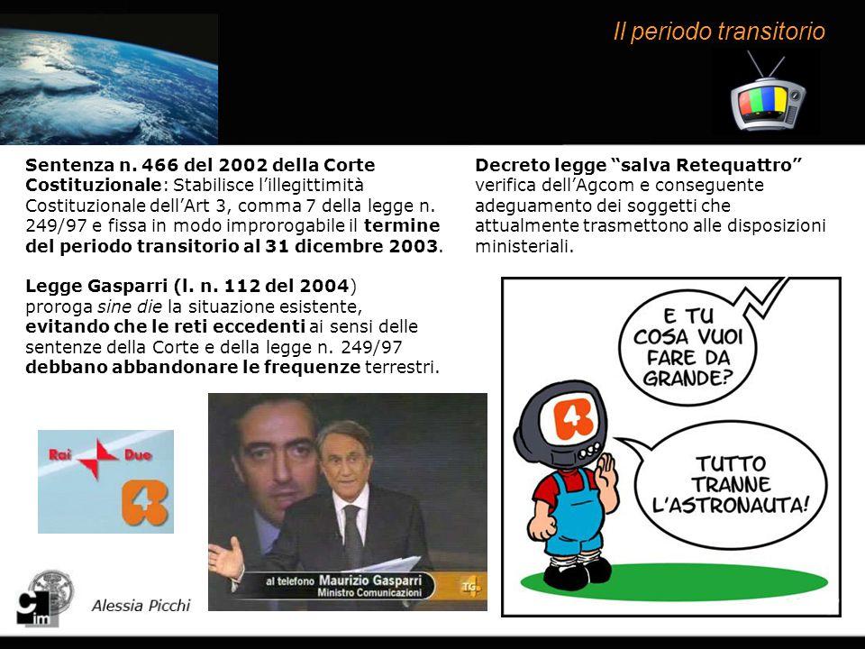 Le proroghe allo switch-off Decreto legge n.