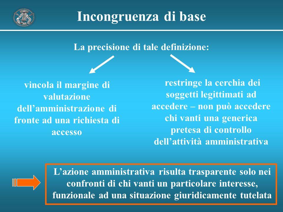 Un difficile compito Emerge un quadro complesso che attribuisce allamministrazione un delicato compito di valutazione incertezza e minori garanzie per il cittadino .