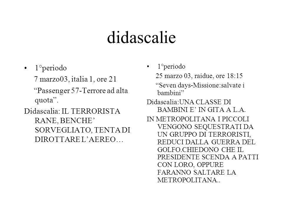 didascalie 1°periodo 7 marzo03, italia 1, ore 21 Passenger 57-Terrore ad alta quota. Didascalia: IL TERRORISTA RANE, BENCHE SORVEGLIATO, TENTA DI DIRO