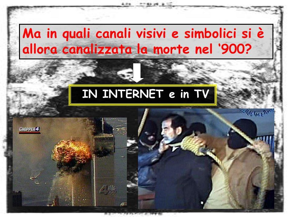 Ma in quali canali visivi e simbolici si è allora canalizzata la morte nel 900? IN INTERNET e in TV