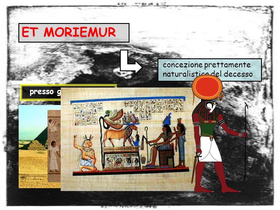 ET MORIEMUR concezione prettamente naturalistica del decesso presso gli egiziani