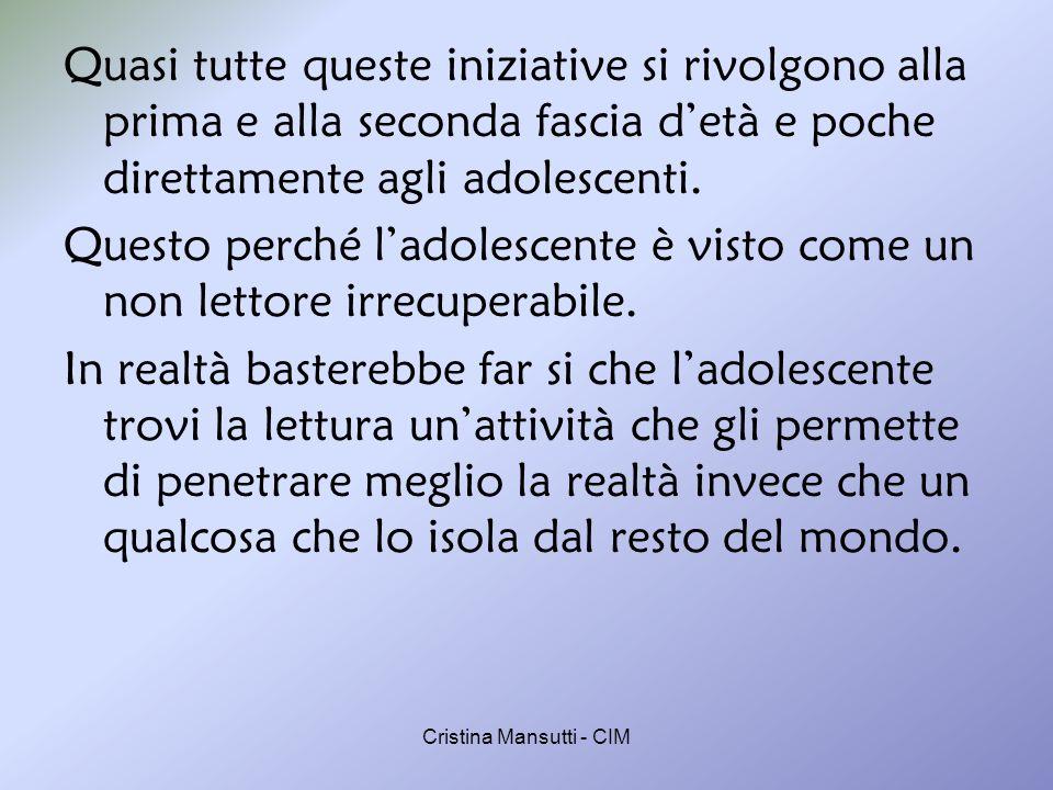 Cristina Mansutti - CIM La biblioteca dei sentimenti