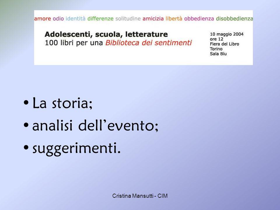 Cristina Mansutti - CIM La storia La stanza dellimmaginazione Le biblioteche scolastiche: opportunità dellautonomia.