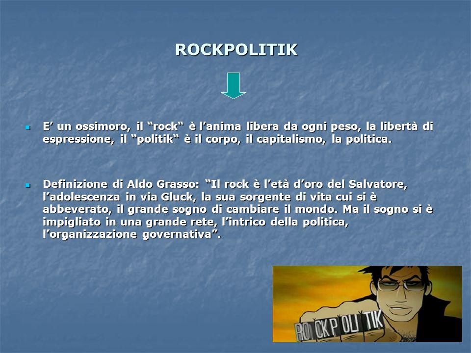 ROCKPOLITIK E un ossimoro, il rock è lanima libera da ogni peso, la libertà di espressione, il politik è il corpo, il capitalismo, la politica. E un o