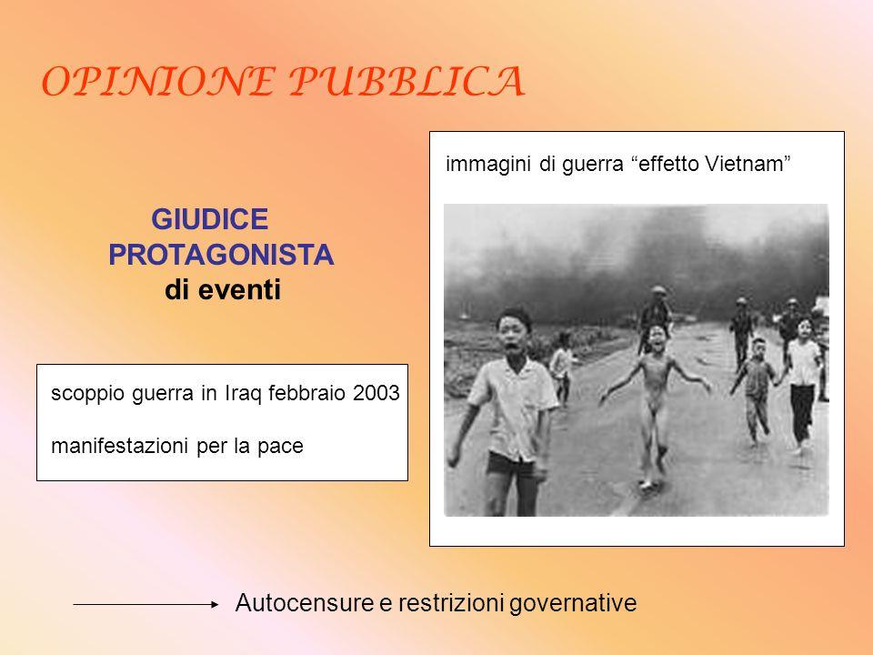 OPINIONE PUBBLICA GIUDICE PROTAGONISTA di eventi immagini di guerra effetto Vietnam scoppio guerra in Iraq febbraio 2003 manifestazioni per la pace Au