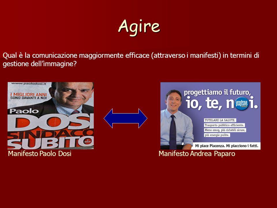 Agire Manifesto Paolo DosiManifesto Andrea Paparo Qual è la comunicazione maggiormente efficace (attraverso i manifesti) in termini di gestione dellim