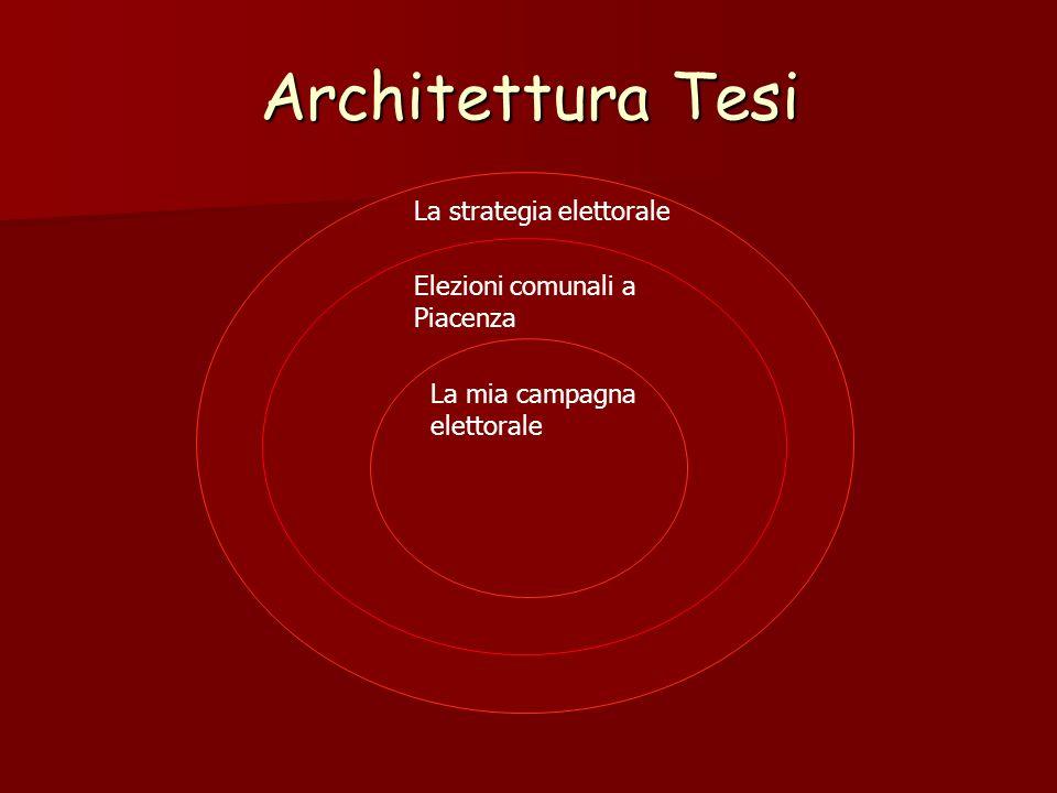 Architettura Tesi La strategia elettorale Elezioni comunali a Piacenza La mia campagna elettorale