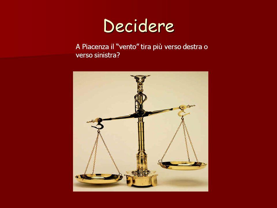 Decidere A Piacenza il vento tira più verso destra o verso sinistra?