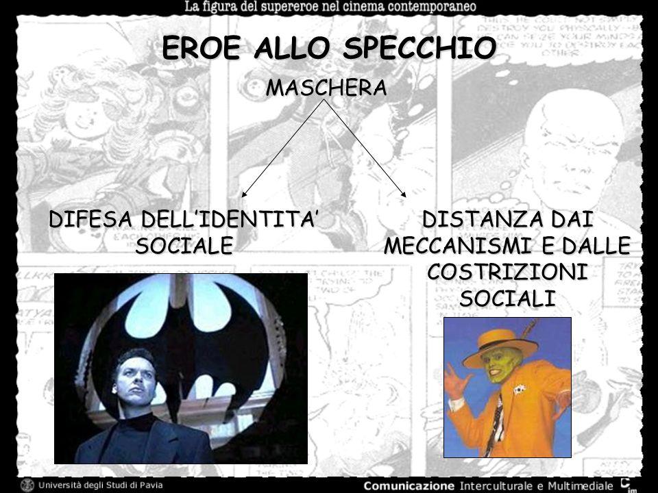 EROE ALLO SPECCHIO MASCHERA DIFESA DELLIDENTITA SOCIALE DISTANZA DAI MECCANISMI E DALLE COSTRIZIONI SOCIALI