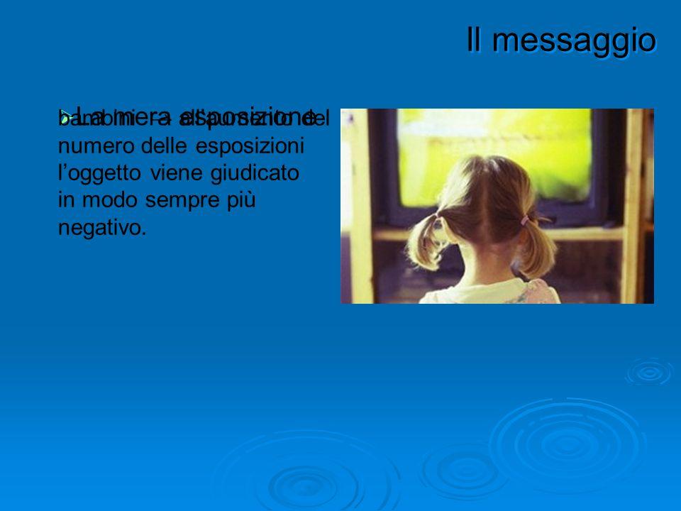 un messaggio persuasivo deve favorire il processo di apprendimento del contenuto.