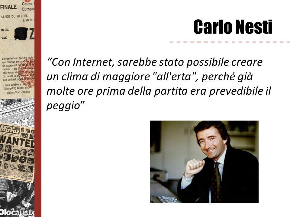 Carlo Nesti Con Internet, sarebbe stato possibile creare un clima di maggiore