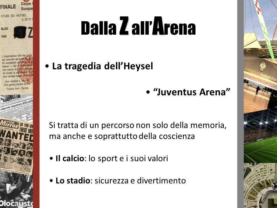 ZA Dalla Z all A rena La tragedia dellHeysel Juventus Arena Si tratta di un percorso non solo della memoria, ma anche e soprattutto della coscienza Il