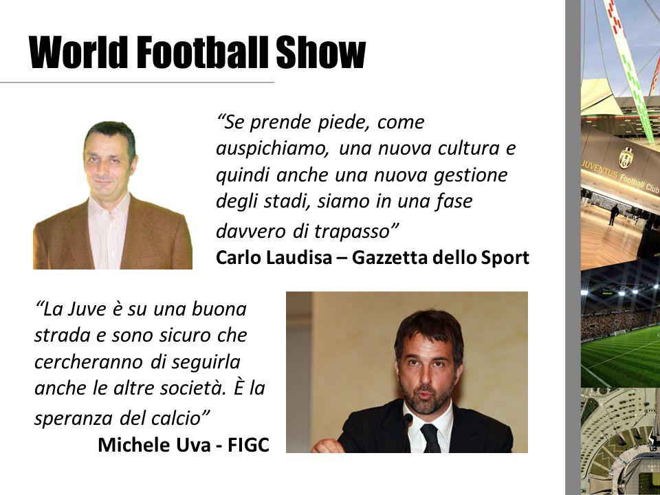World Football Show Se prende piede, come auspichiamo, una nuova cultura e quindi anche una nuova gestione degli stadi, siamo in una fase davvero di t