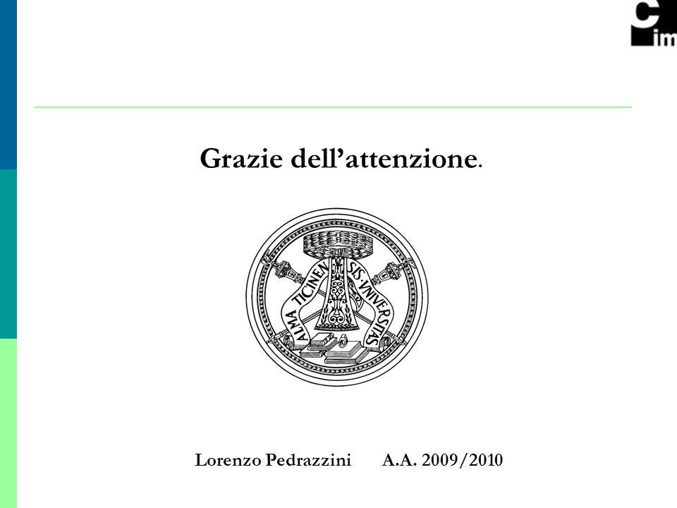 12 Grazie dellattenzione. Lorenzo Pedrazzini A.A. 2009/2010