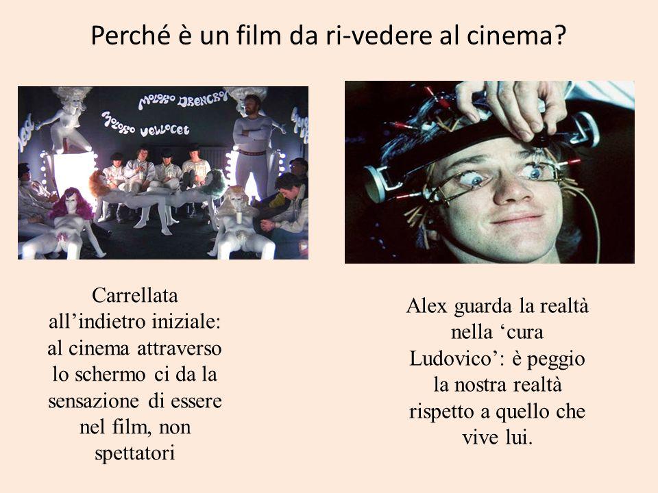 Perché è un film da ri-vedere al cinema? Carrellata allindietro iniziale: al cinema attraverso lo schermo ci da la sensazione di essere nel film, non
