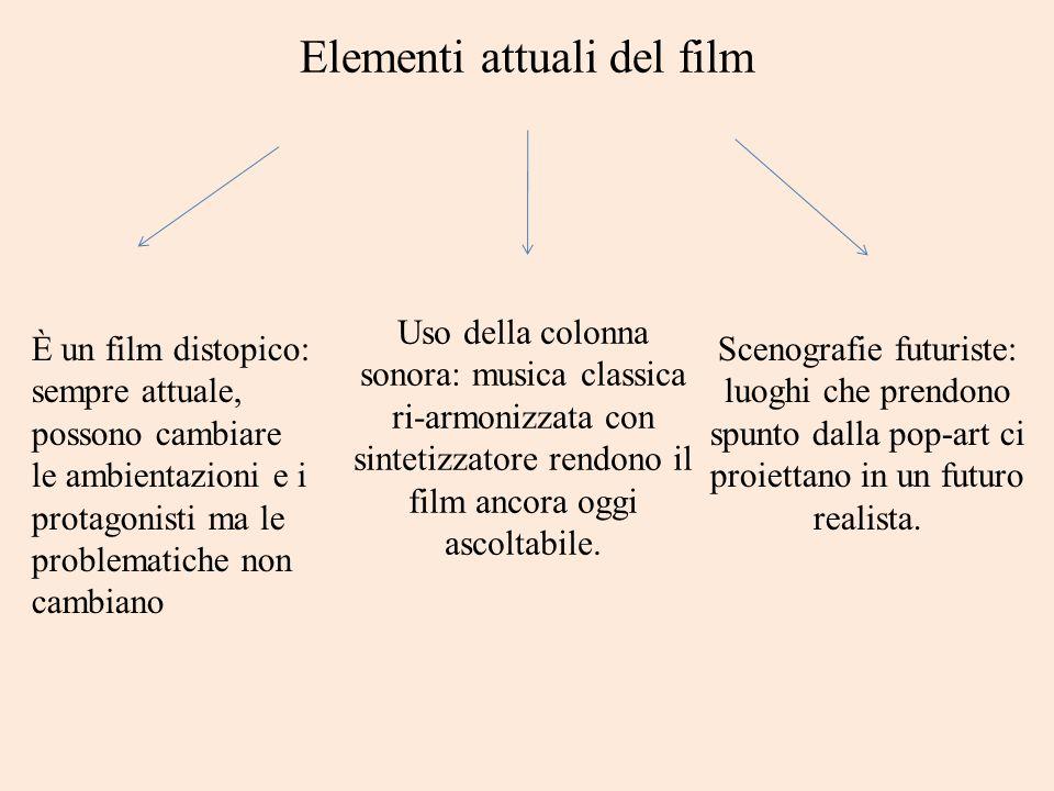 Elementi attuali del film Uso della colonna sonora: musica classica ri-armonizzata con sintetizzatore rendono il film ancora oggi ascoltabile. Scenogr