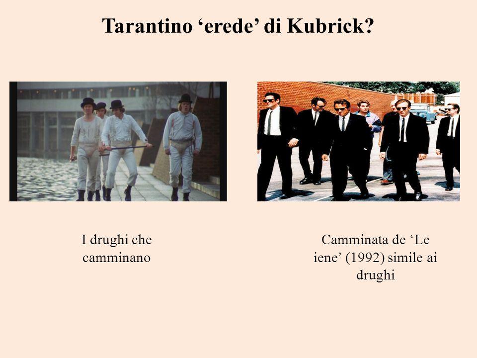 Tarantino erede di Kubrick? Camminata de Le iene (1992) simile ai drughi I drughi che camminano