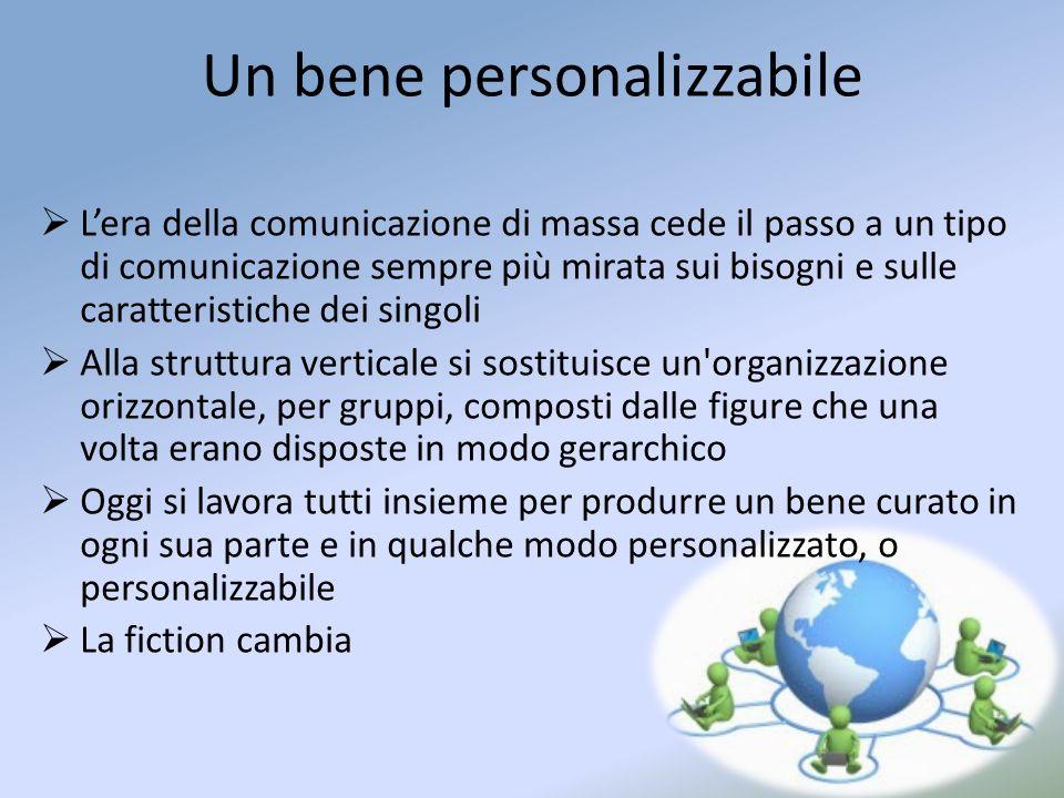 Un bene personalizzabile Lera della comunicazione di massa cede il passo a un tipo di comunicazione sempre più mirata sui bisogni e sulle caratteristi