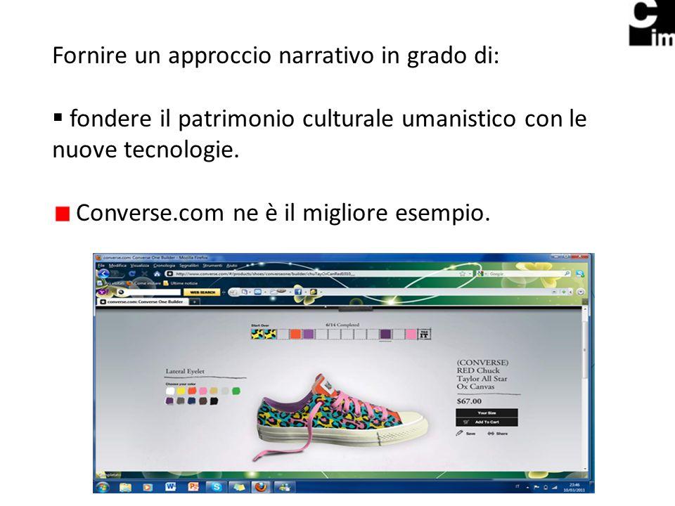 Fornire un approccio narrativo in grado di: fondere il patrimonio culturale umanistico con le nuove tecnologie.