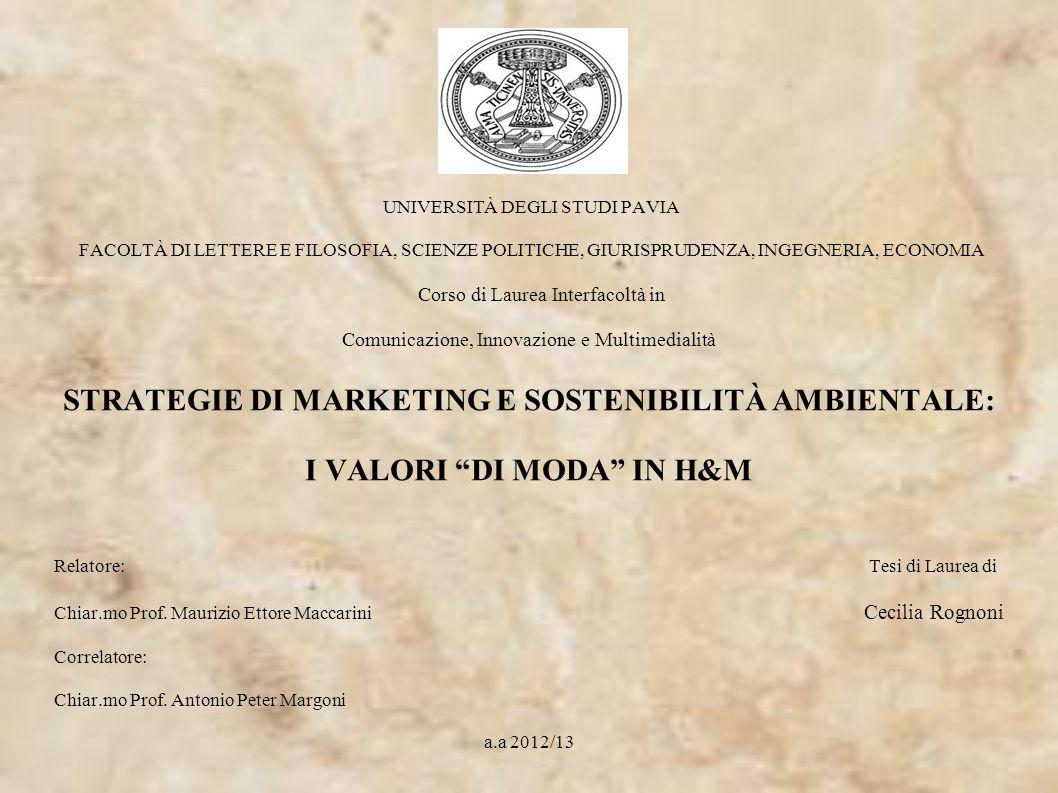 UNIVERSITÀ DEGLI STUDI PAVIA FACOLTÀ DI LETTERE E FILOSOFIA, SCIENZE POLITICHE, GIURISPRUDENZA, INGEGNERIA, ECONOMIA Corso di Laurea Interfacoltà in C