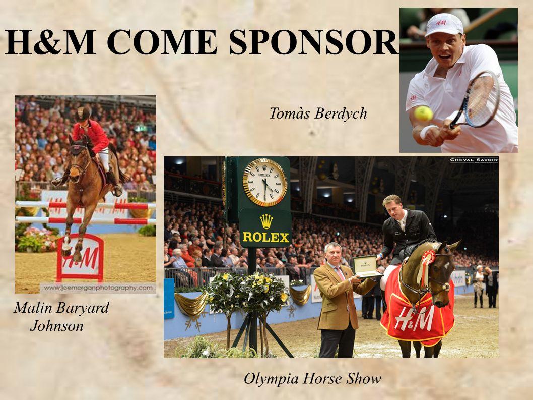 H&M COME SPONSOR Tomàs Berdych Olympia Horse Show Malin Baryard Johnson
