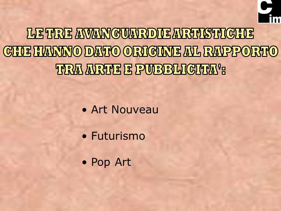 Art Nouveau Futurismo Pop Art