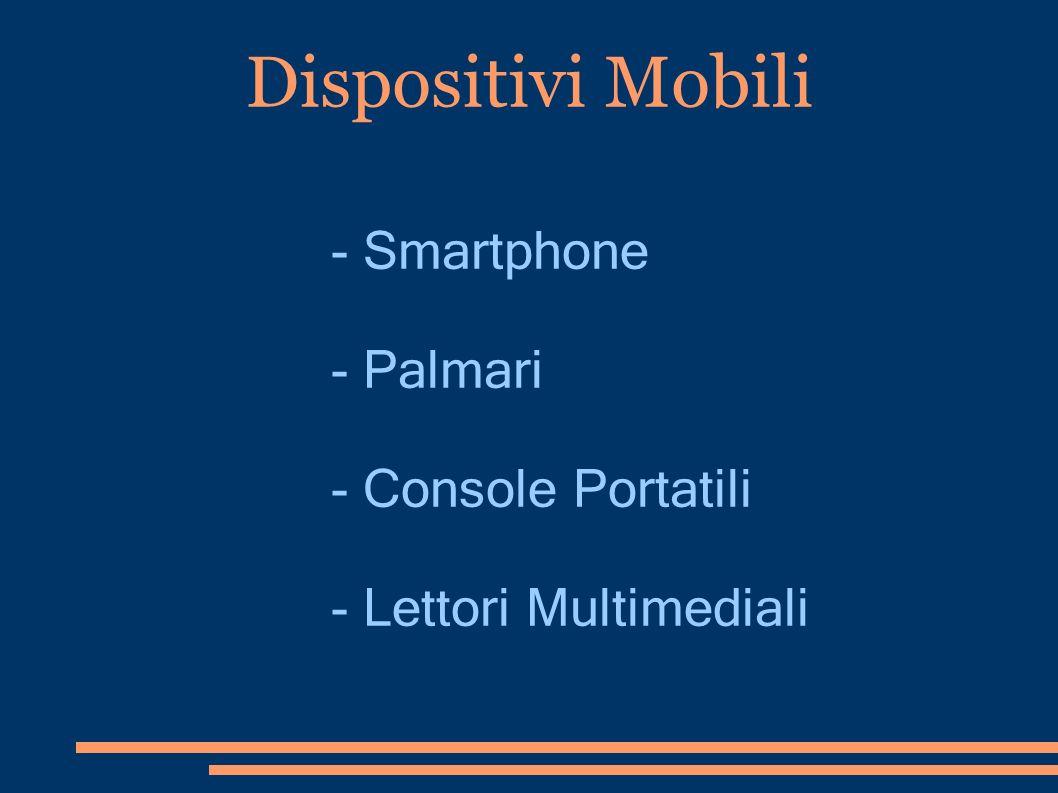 Dispositivi Mobili - Smartphone - Palmari - Console Portatili - Lettori Multimediali