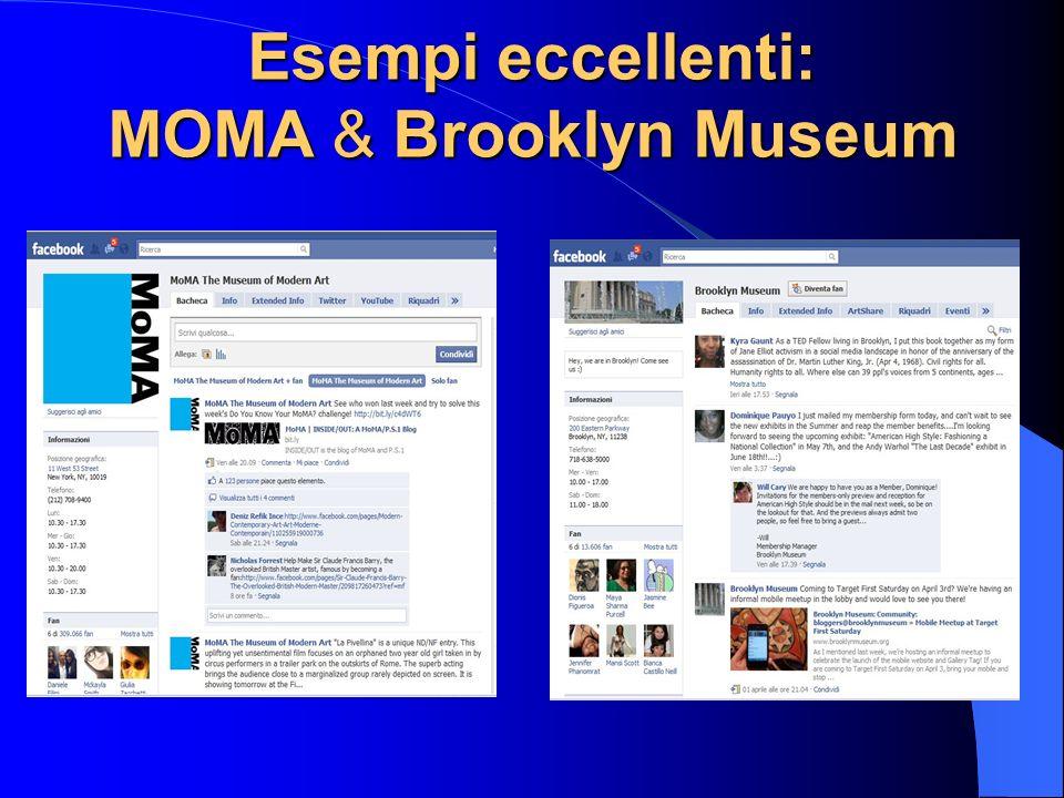 Esempi eccellenti: MOMA & Brooklyn Museum