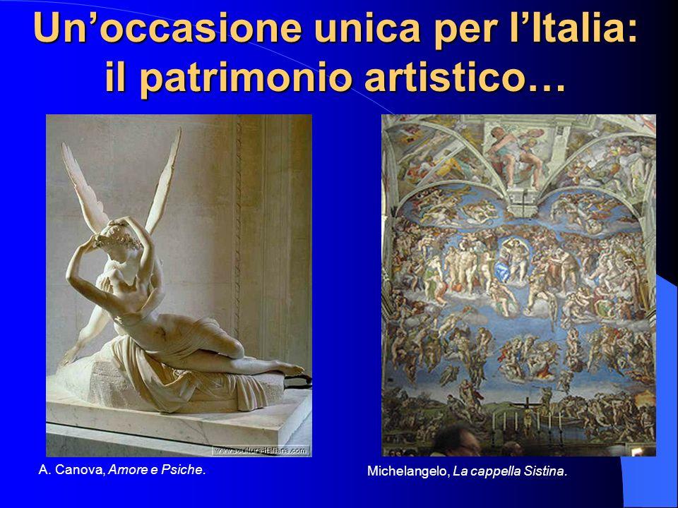 Unoccasione unica per lItalia: il patrimonio artistico… A. Canova, Amore e Psiche. Michelangelo, La cappella Sistina.