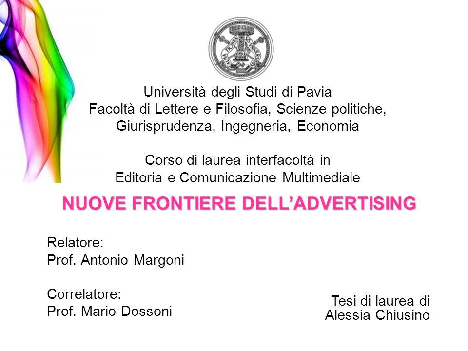 Università degli Studi di Pavia Facoltà di Lettere e Filosofia, Scienze politiche, Giurisprudenza, Ingegneria, Economia Corso di laurea interfacoltà i