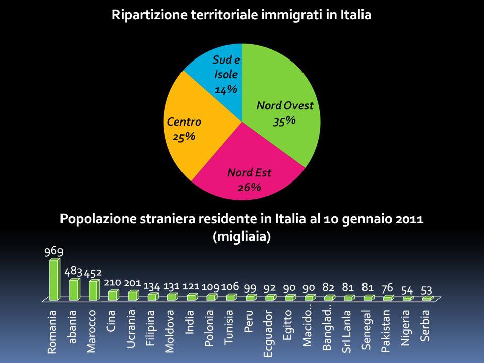 Aumento della Multiculturalità Aumento delle Nascite Difficoltà ad accedere ai servizi Creazione di strutture e servizi per favorire lintegrazione degli immigrati