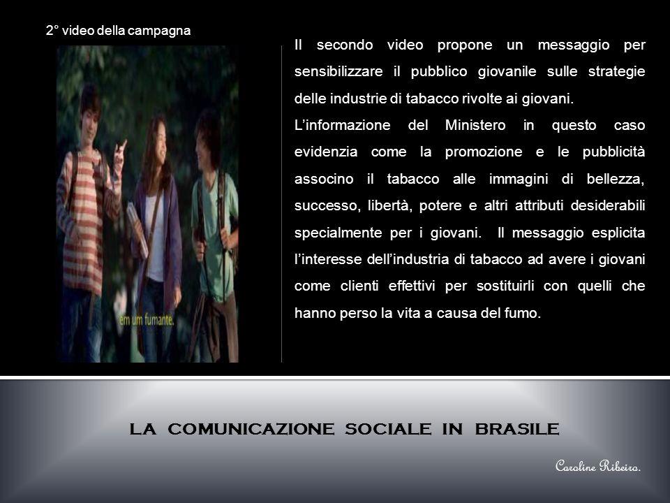 Il secondo video propone un messaggio per sensibilizzare il pubblico giovanile sulle strategie delle industrie di tabacco rivolte ai giovani.