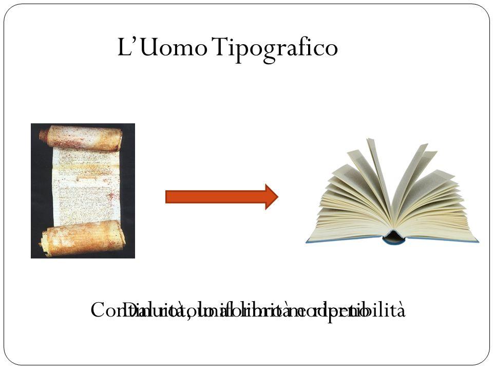 LUomo Tipografico Dal rotolo al libro modernoContinuità, uniformità e ripetibilità