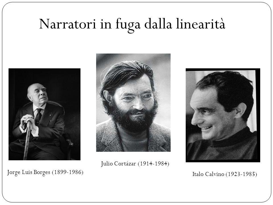 Narratori in fuga dalla linearità Jorge Luis Borges (1899-1986) Julio Cortázar (1914-1984) Italo Calvino (1923-1985)