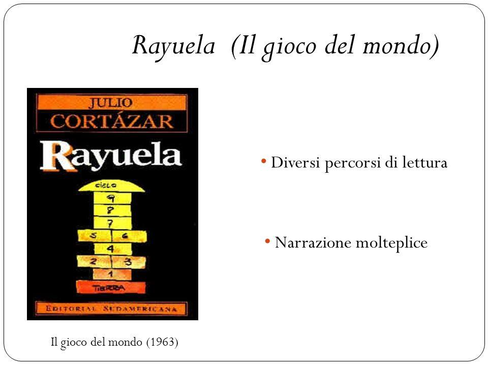 Il gioco del mondo (1963) Rayuela (Il gioco del mondo) Diversi percorsi di lettura Narrazione molteplice