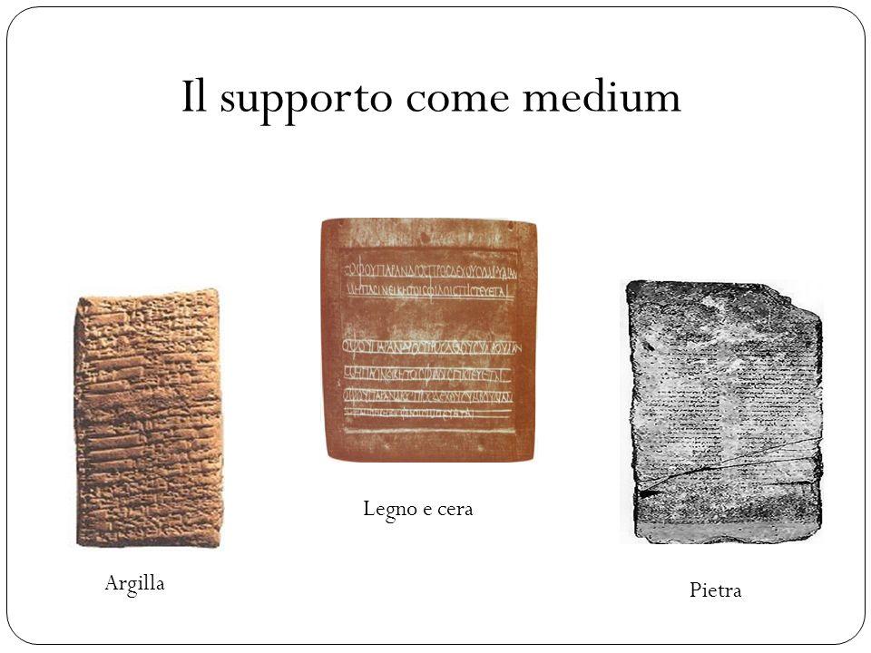 Il supporto come medium Argilla Legno e cera Pietra