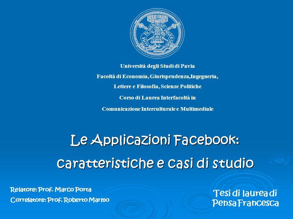 Università degli Studi di Pavia Facoltà di Economia, Giurisprudenza,Ingegneria, Lettere e Filosofia, Scienze Politiche Corso di Laurea Interfacoltà in