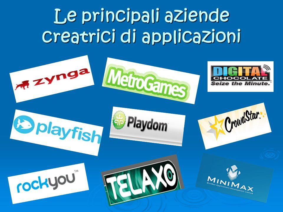 Le principali aziende creatrici di applicazioni