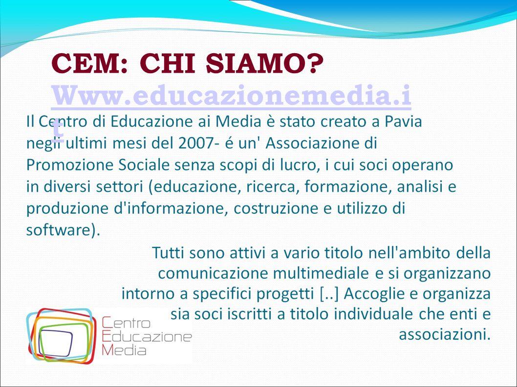 3 CEM: CHI SIAMO? Www.educazionemedia.i t