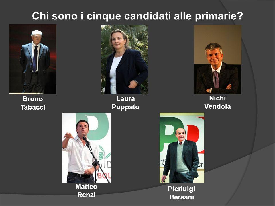 Chi sono i cinque candidati alle primarie.