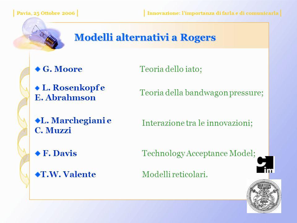 Modelli alternativi a Rogers G. MooreTeoria dello iato; L.