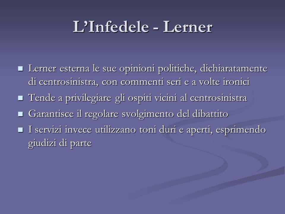 LInfedele - Lerner Lerner esterna le sue opinioni politiche, dichiaratamente di centrosinistra, con commenti seri e a volte ironici Lerner esterna le