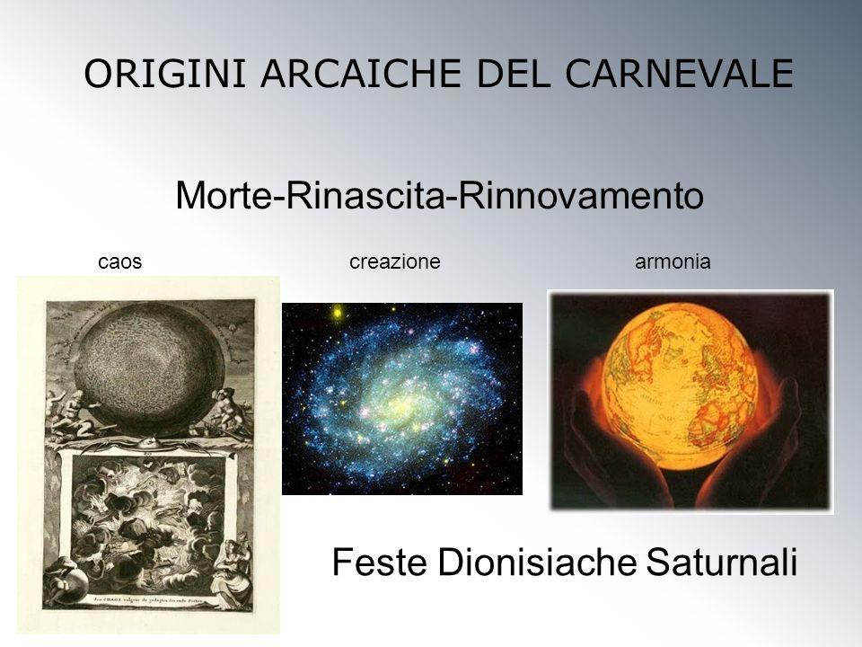 Morte-Rinascita-Rinnovamento ORIGINI ARCAICHE DEL CARNEVALE Feste Dionisiache Saturnali caoscreazionearmonia