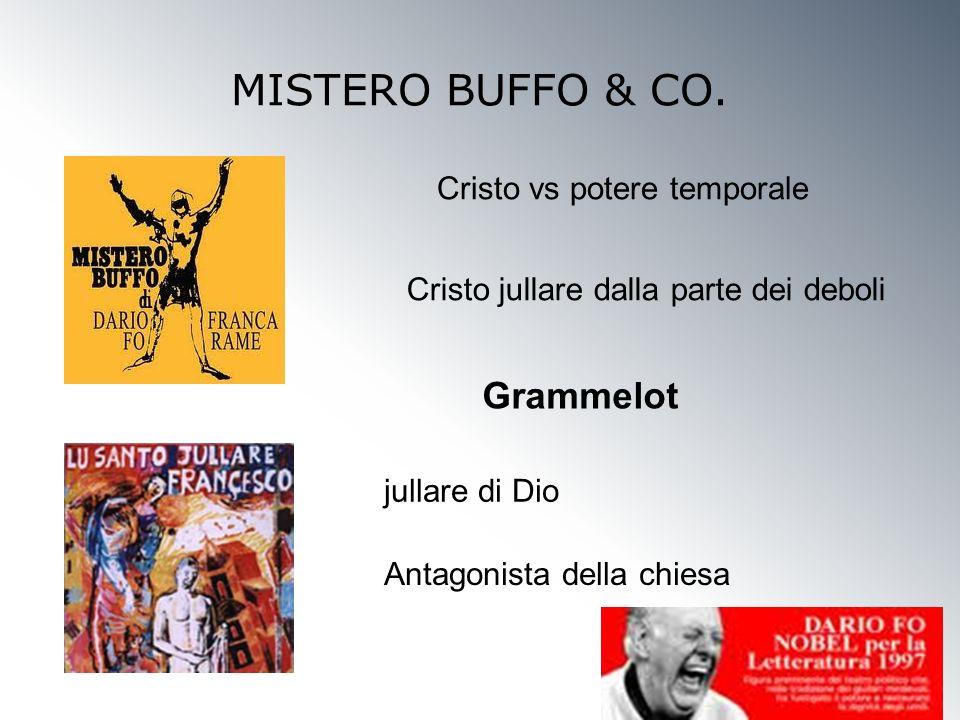MISTERO BUFFO & CO. Cristo vs potere temporale Cristo jullare dalla parte dei deboli Grammelot Antagonista della chiesa jullare di Dio