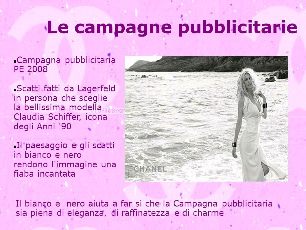 Le campagne pubblicitarie Campagna pubblicitaria PE 2008 Scatti fatti da Lagerfeld in persona che sceglie la bellissima modella Claudia Schiffer, icon