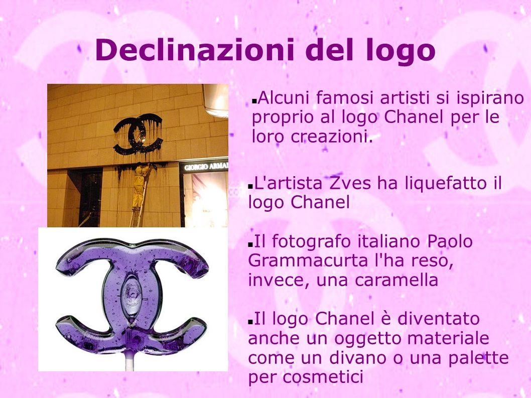 Declinazioni del logo Alcuni famosi artisti si ispirano proprio al logo Chanel per le loro creazioni. L'artista Zves ha liquefatto il logo Chanel Il f