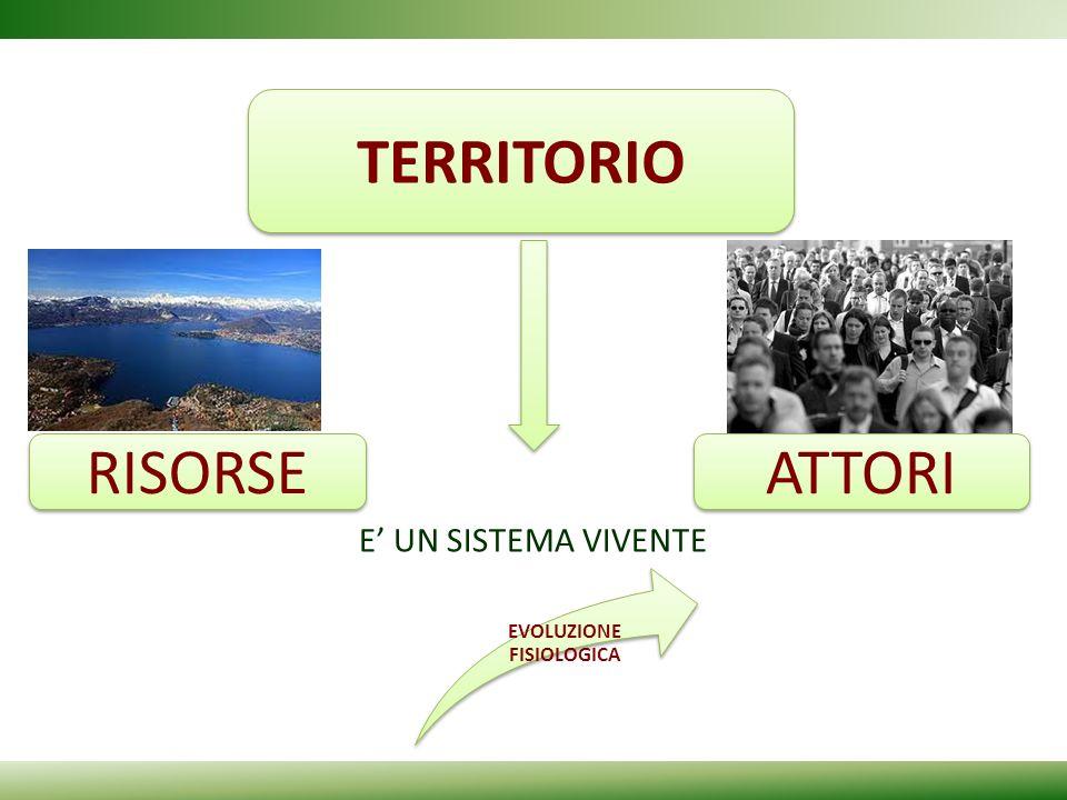 E UN SISTEMA VIVENTE TERRITORIO RISORSE ATTORI EVOLUZIONE FISIOLOGICA