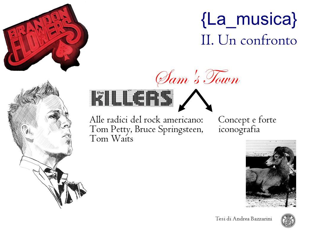 {La_musica} II. Un confronto Sam's Town Alle radici del rock americano: Concept e forte Tom Petty, Bruce Springsteen, iconografia Tom Waits Tesi di An