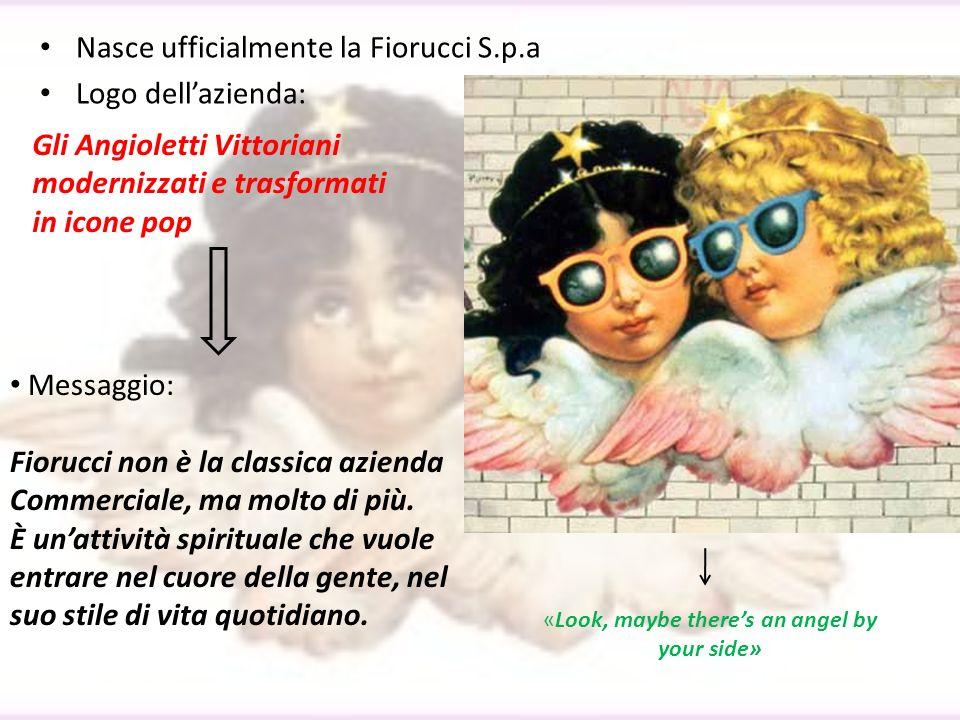 Nasce ufficialmente la Fiorucci S.p.a Logo dellazienda: Gli Angioletti Vittoriani modernizzati e trasformati in icone pop Messaggio: Fiorucci non è la