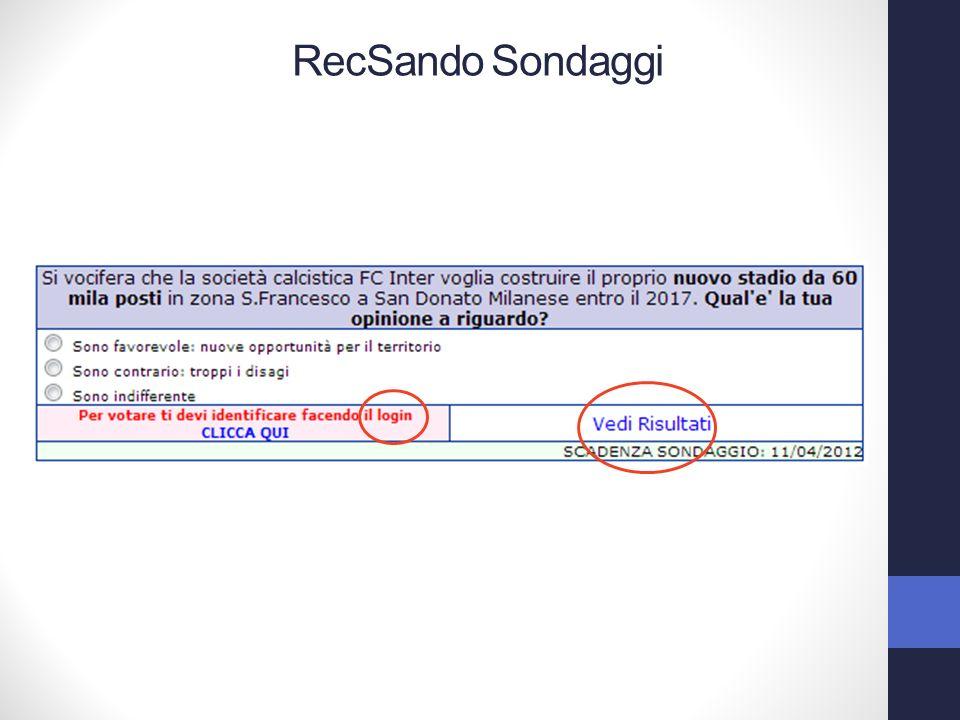 RecSando Sondaggi